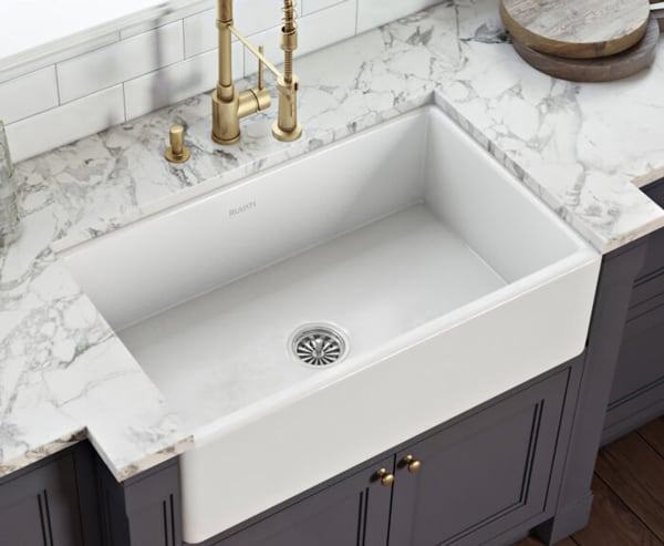 Ruvati RVL2300WH Fireclay Farmhouse Sink