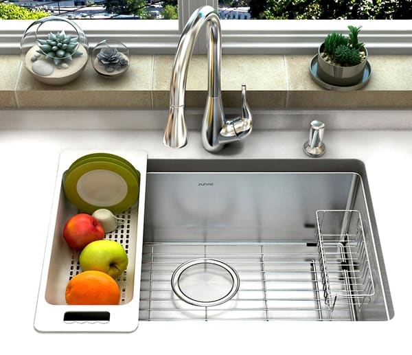 Zuhne Single Bowl Stainless Steel Kitchen Sink