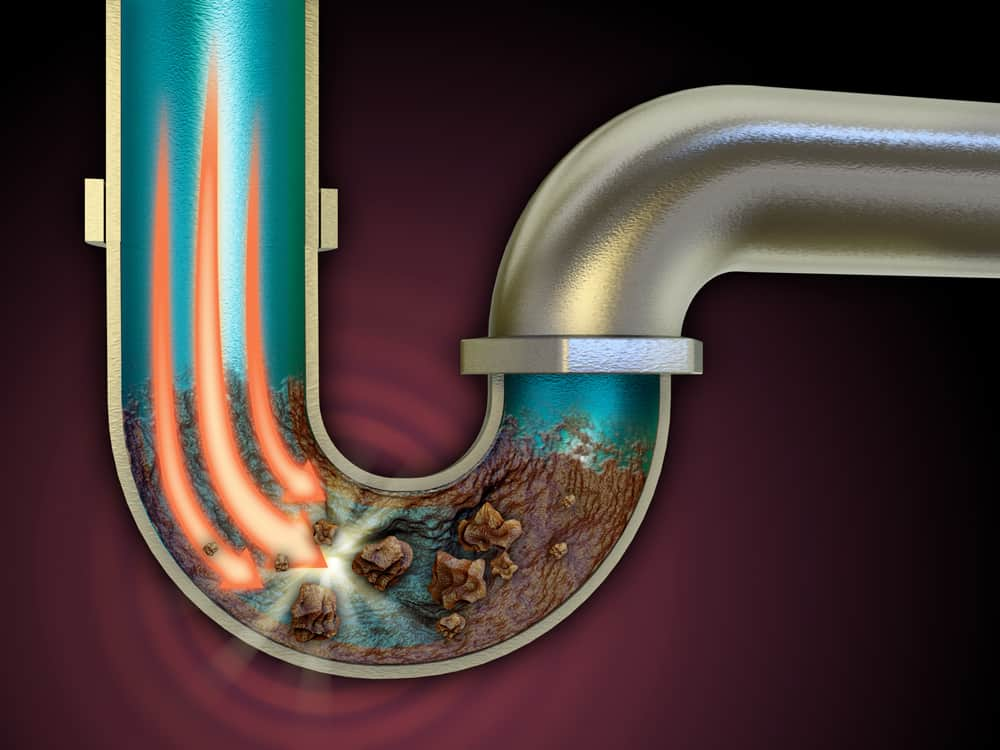 Clogged Drain Pipe