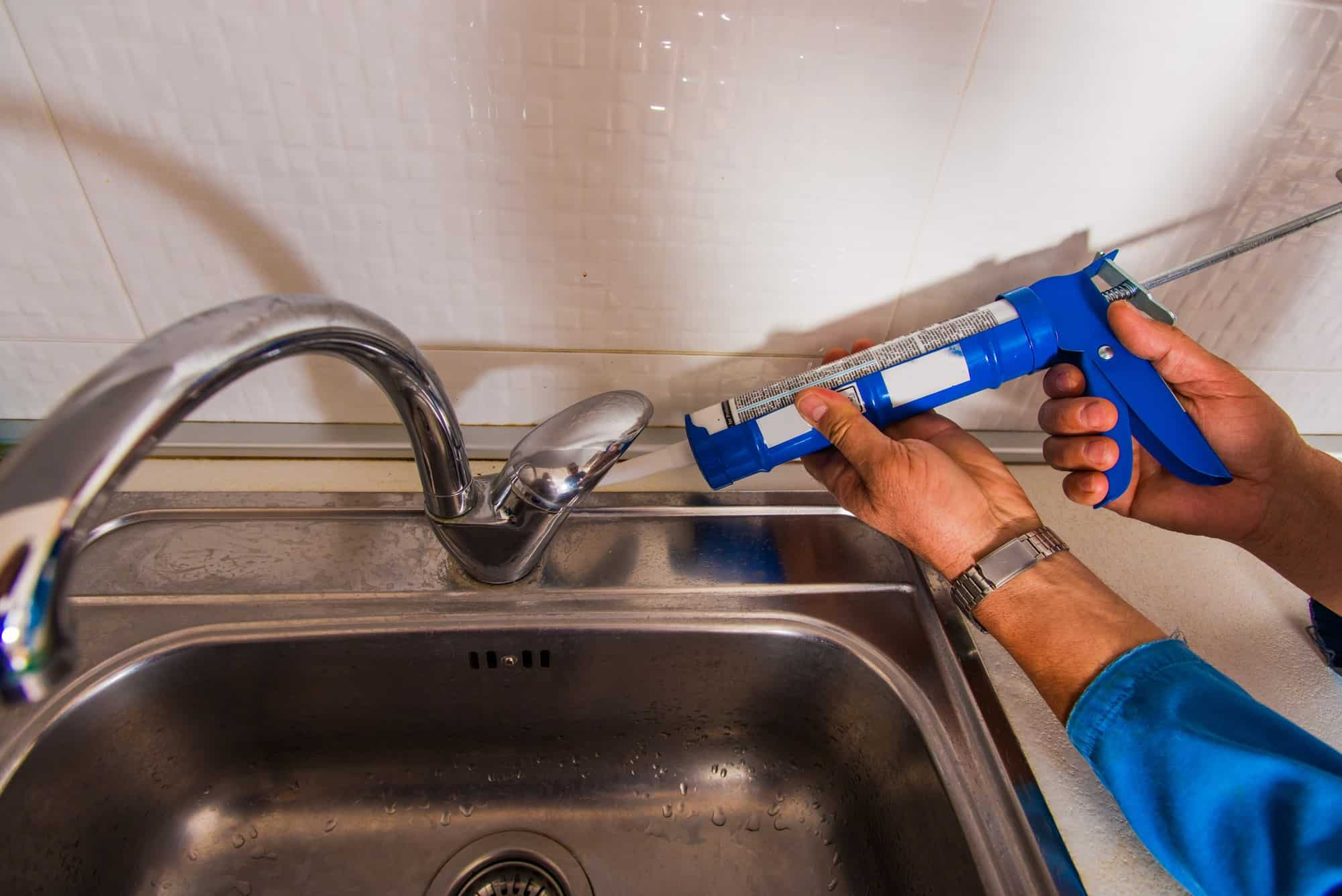 How To Seal Kitchen Faucet Base